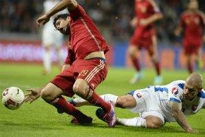 Словакия, обыграв Испанию, вырвалась в лидеры нашей группы