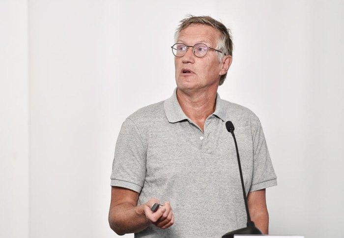 Андерс Тегнелл під час пресконференції щодо ситуації з Covid-19 у Стокгольмі, 21 липня 2020.