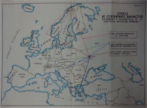 Зоны радиоактивного поражения, документ минобороны Румынии
