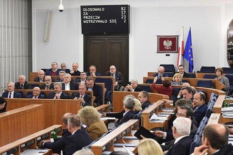 Сенат Польщі вночі прийняв закон про Інститут нацпам'яті, - ЗМІ