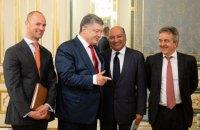 Порошенко встретился с президентом ЕБРР и главами ряда крупных корпораций