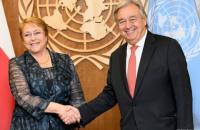 Верховним комісаром ООН з прав людини стала екс-президент Чилі