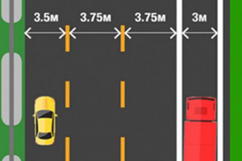 Минрегионстрой решил сузить крайние левые полосы на трассах