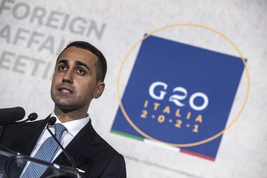 Міністр закордонних справ Італії Луїджі ді Майо під час зустрічі G20