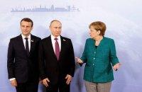 Меркель и Макрон поговорили с Путиным об Украине при новом президенте