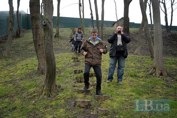 Знамениты пеньки, по которым любил бегать Янукович в качестве зарядки