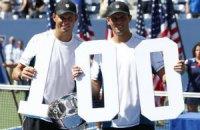 US Open: Брайаны выиграли сотый турнир, россиянки - только пятый