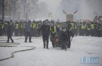 Полиция задержала больше 100 человек возле Рады, в палатках нашли 9 гранат (обновлено)