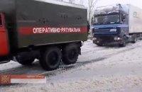 На Одещині через негоду утворився чотирикілометровий затор із 100 вантажівок
