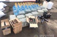 У Рівненській області вилучили понад пів тонни фальсифікатного алкоголю і більш ніж дві тисячі пачок сигарет
