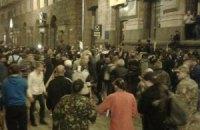 На Майдані була бійка і стрілянина феєрверками (онлайн-трансляція)