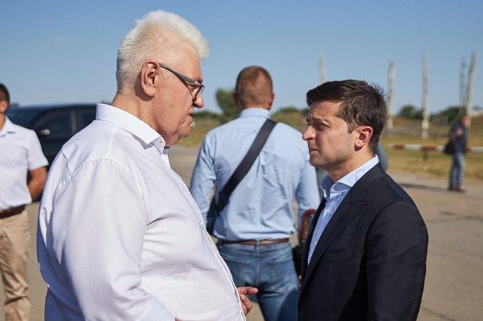 Владимир Зеленский и Сергей Сивохо во время рабочей поездки