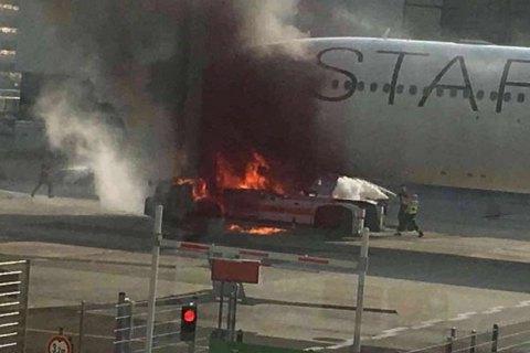 В аеропорту Франкфурта загорівся літак