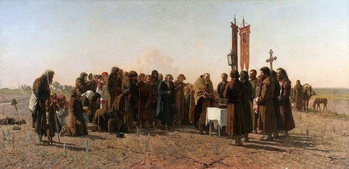 Картина Григорія Мясоєдова «Посуха», яка знаходиться в Варшавському національному музеї
