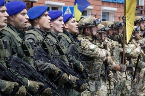 У Маріуполі відбувся військовий парад до сьомої річниці визволення міста від окупантів