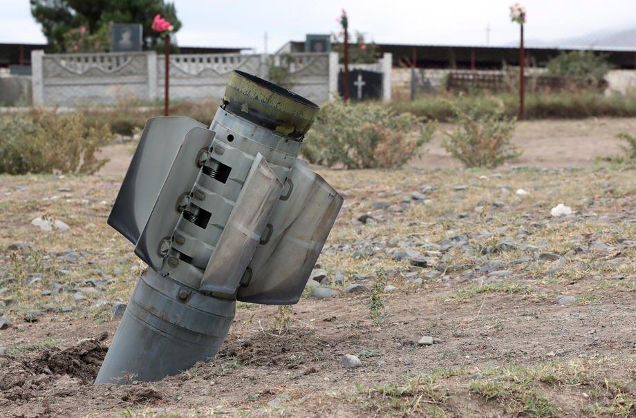 Село Иванян (Ходжалы) после обстрела Азербайджаном самопровозглашенной Нагорно-Карабахской Республики, 01 октября 2020 г.