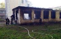В Каменском сгорела мастерская на территории школы