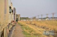 На въезде в Крым образовалась двухкилометровая очередь из фур