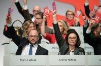 Социал-демократы согласились на консультации с партией Меркель о коалиции
