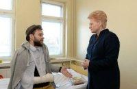 На лечение в Литву доставили первого пострадавшего активиста из Украины