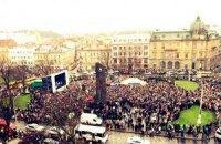 """На львовском Евромайдане дали отпор """"свободовцам"""""""