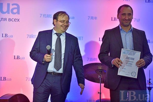 Главный редактор Lb.ua Олег Базар (слева) и Игорь Соловей, Lb.ua