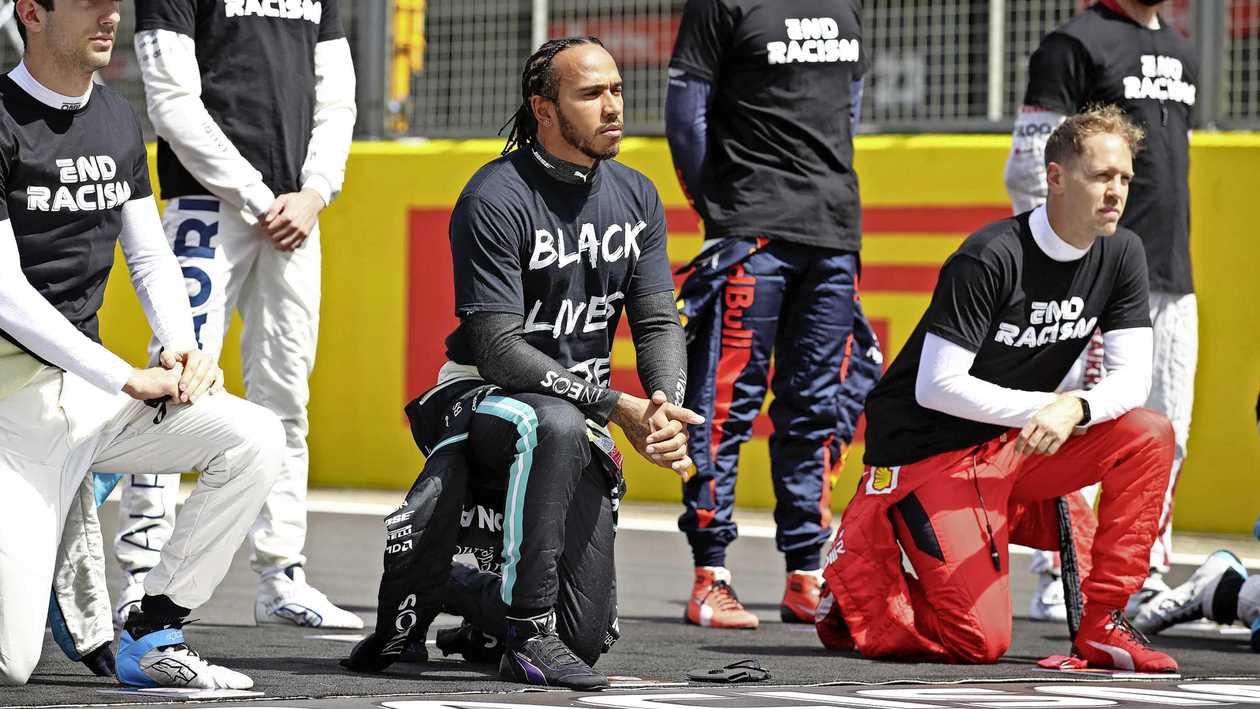 Льюис Хэмилтон и 4-кратный чемпион Формулы-1 Себастьян Феттель