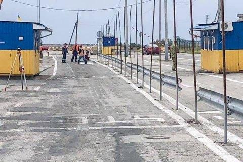 На адмінмежі з Кримом почали будувати нові пункти пропуску