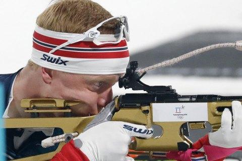 Норвезький біатлоніст Йоханнес Бьо - олімпійський чемпіон-2018 в індивідуальній гонці