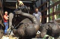 В Симферополь из России привезли памятник Екатерине II