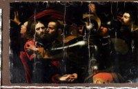 """Картину Караваджо """"Поцелуй Иуды"""", которая пострадала от рук воров в 2008 году, реставрируют"""