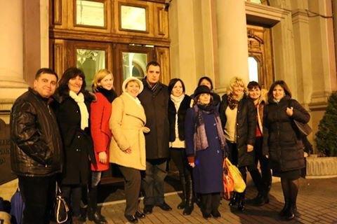 Зустріч львівських педагогів, які повернулися з Луганщини, там протягом місяця вони навчали місцевих школярів