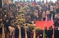 Многотысячная траурная церемония по погибшим при обрушении моста прошла в Генуе