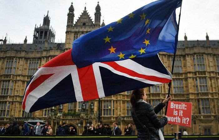 Акція на підтримку ЄС біля будівлі парламенту в Лондоні, 29 листопада 2018.