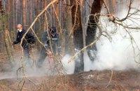 У Чорнобильській зоні пожежі тривають на території шести лісництв