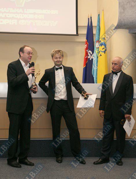 Журналисты: Артем Франков, Мыкола Васильков и Валентин Щербачев