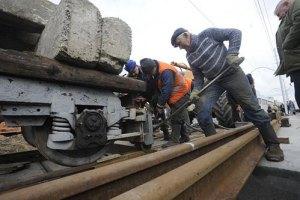 В Киеве приостановлено движение двух трамвайных маршрутов