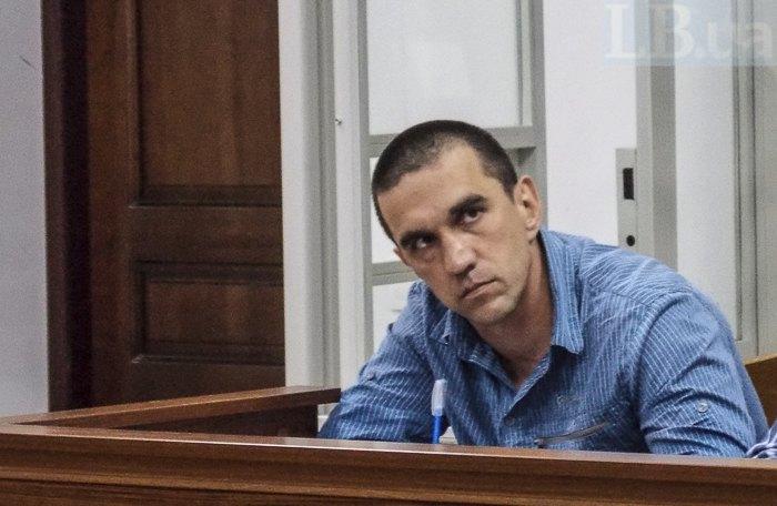 Беркутівець Марчук під час засідання 21 травня 2018