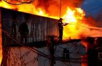 В Одессе сгорел причал и 15 дачных домов