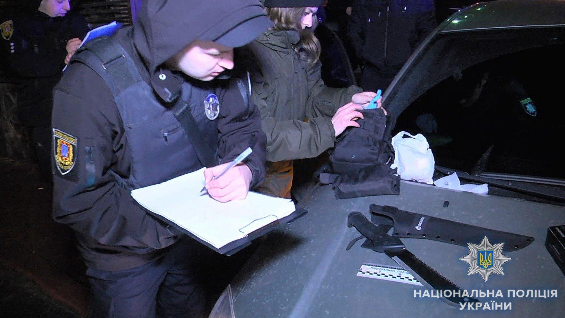 ВОдессе задержаны трое граждан России, угрожавших прохожим ножом