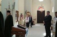 Порошенко посетил совместное богослужение УПЦ КП, УАПЦ и УГКЦ в Вышгороде