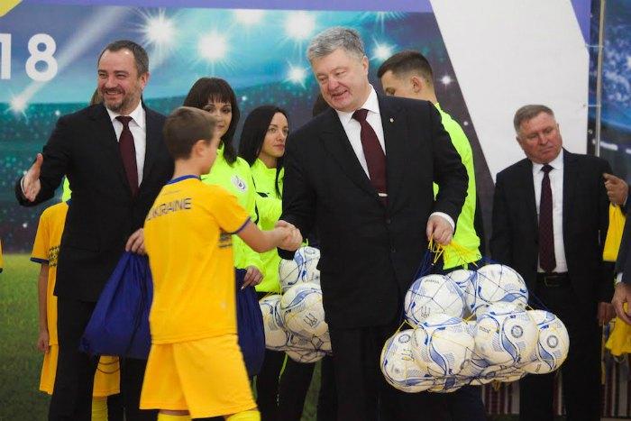 Петро Порошенко на відкритті змагань