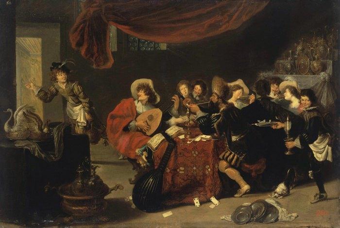 Симон де Вос «Веселое общество» 1631
