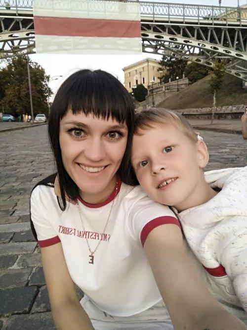 Катя з сином у Києві