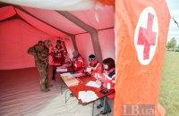 В Киевской области прошли учения по развертыванию лагеря беженцев