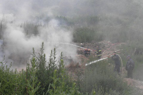 Пожар на свалках в Грибовичах и Жидачове погасили