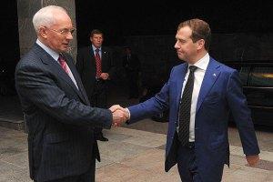 Азаров обсудил с Медведевым доступ к российской трубе