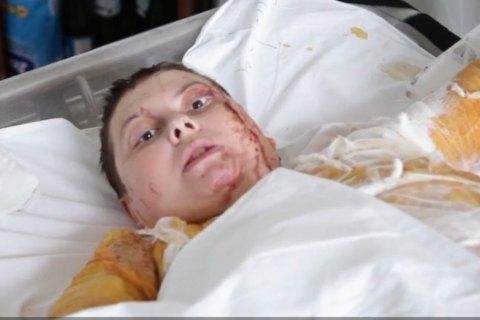 Гандзюк записала відеозвернення з лікарні