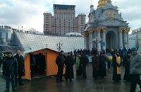 На Майдане Независимости установили полевой храм