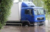 Сильный ливень затопил Черкассы